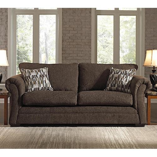 United Furniture Industries 2256 Transitional Stationary Sleeper Sofa