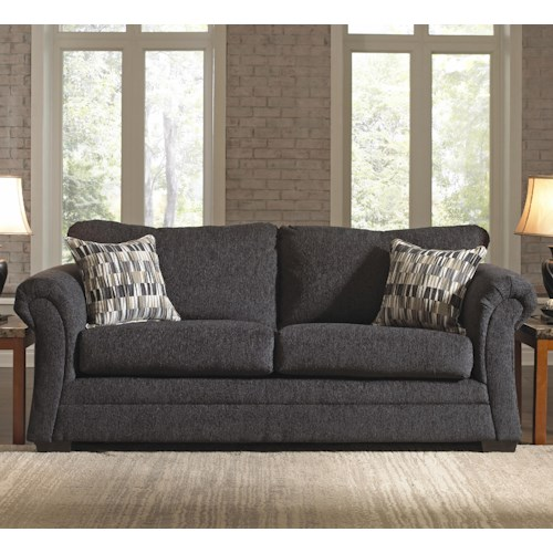 United Furniture Industries 2256 Transitional Stationary Sofa