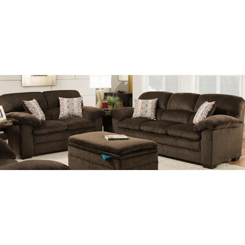 United Furniture Industries 3684 United Furniture Industries 3684 Stationary Living Room