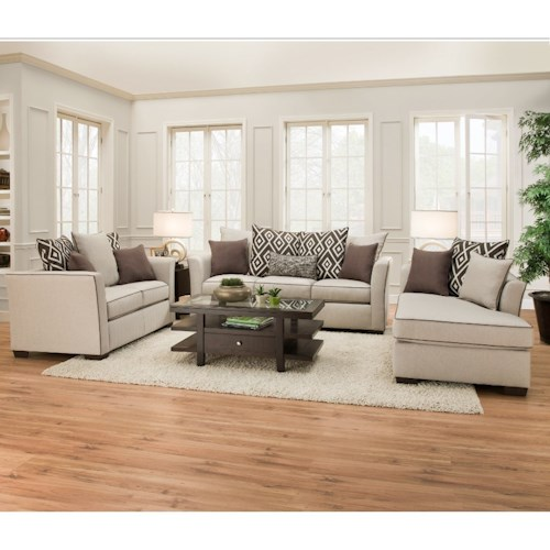 United Furniture Industries 4202 Transitional Living Room Group