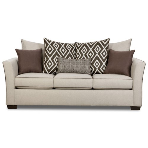 United Furniture Industries 4202 Transitional Sleeper Sofa with Flared Arms