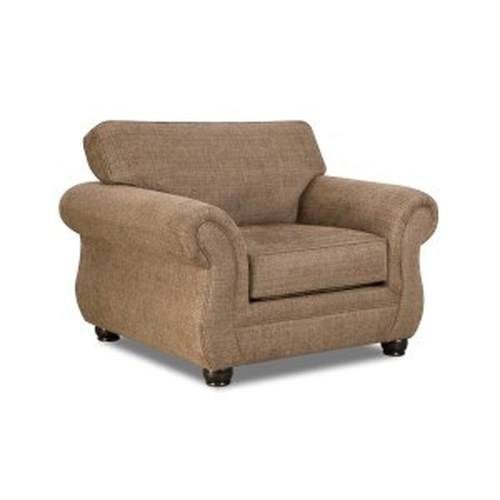 United Furniture Industries 4250 BR Transitional Chair with Rolled Arms