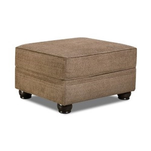 United Furniture Industries 4250 BR Transitional Ottoman with Bun Feet
