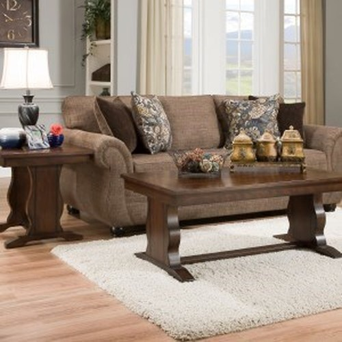 United Furniture Industries 4250 BR Transitional Sofa with Rolled Arms