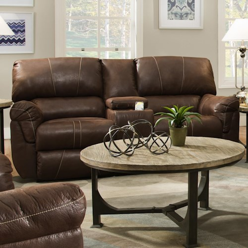 United Furniture Industries 50364 Casual Power Double Motion Console Loveseat