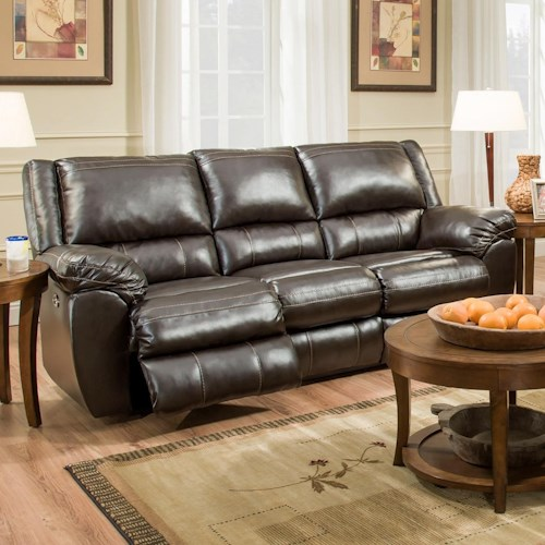 United Furniture Industries 50433BR Power Double Motion Sofa