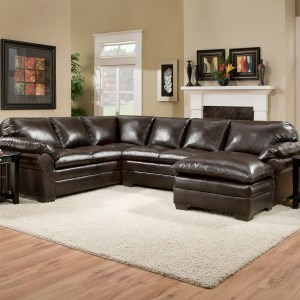 Simmons Upholstery 5045 United Transitional Sectional Sofa