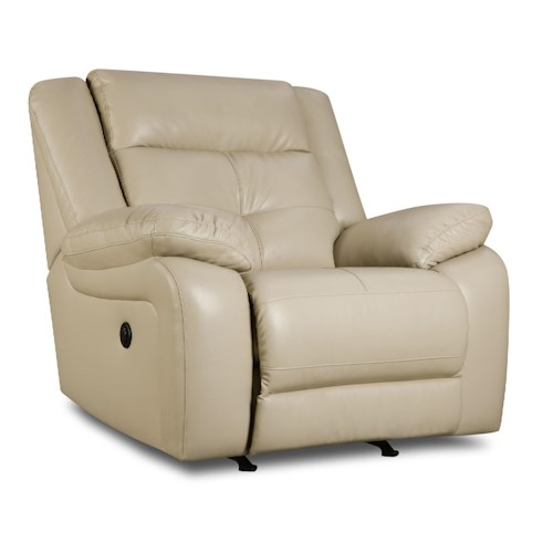 United Furniture Industries 50590 Casual Rocker Recliner with Padded Chaise