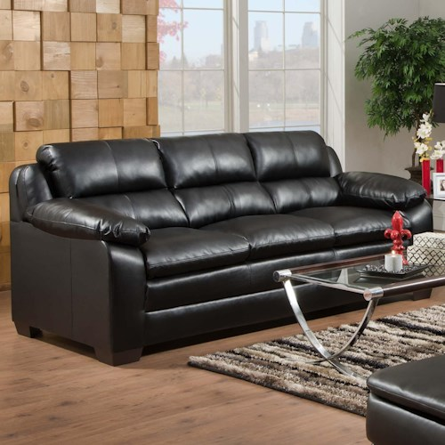 United Furniture Industries 5066 Casual Stationary Sofa with Pillow Top Arms