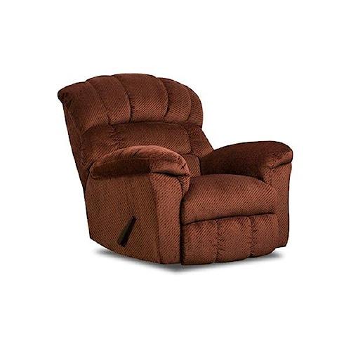 Simmons Upholstery 558 Victor Burgundy Recliner