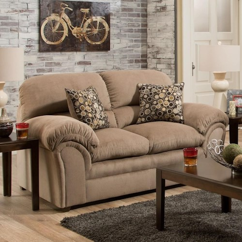 United Furniture Industries 6150 Upholstered Loveseat