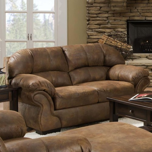 United Furniture Industries 6270 Transitional Loveseat with Pillow Arms