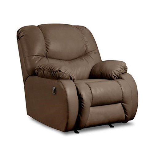 Simmons Upholstery 706 Casual Rocker Recliner with Plush Pillow Arms