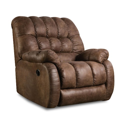 Simmons Upholstery 753 Casual Recliner with Plush Pillow Arms