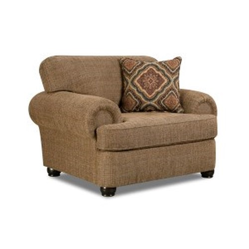 Simmons Upholstery 7533 BR Transitional Chair with Rolled Arms