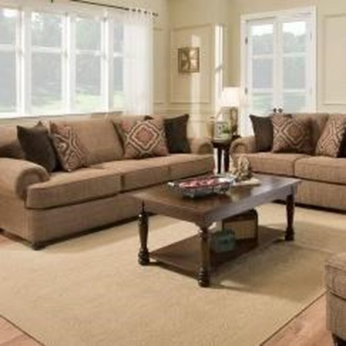 United Furniture Industries 7533 BR Transitional Sofa with Rolled Arms