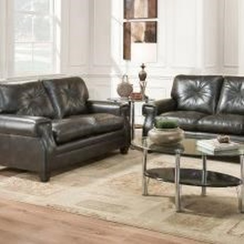 United Furniture Industries 8065 Transitional Loveseat with Key Rolled Arms