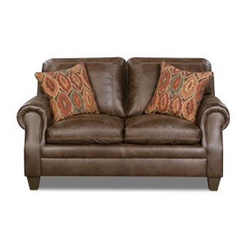 United Furniture Industries 8069 Transitional Loveseat with Rolled Arms