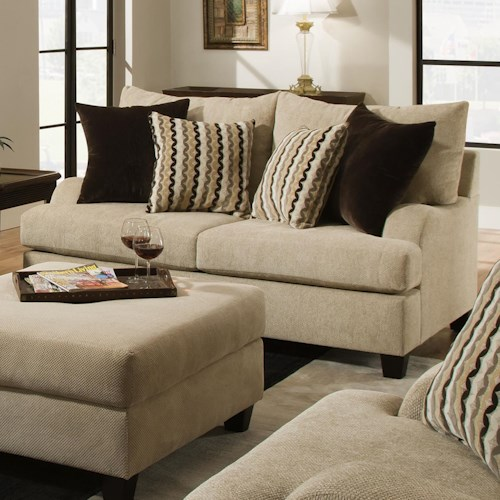 Simmons Upholstery 8520 Traditional Loveseat with English Rolled Arms