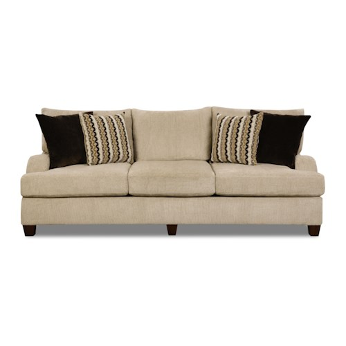 Simmons Upholstery 8520 Traditional Sofa with English Rolled Arms