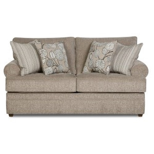 Simmons Upholstery 8530 BR Transitional Loveseat with Rolled Arms