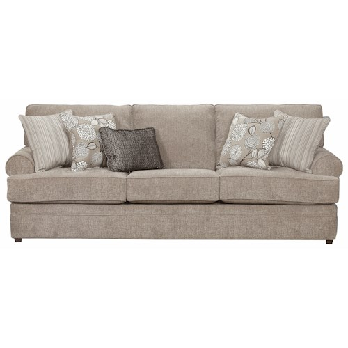Simmons Upholstery 8530 BR Transitional Sofa with Rolled Arms