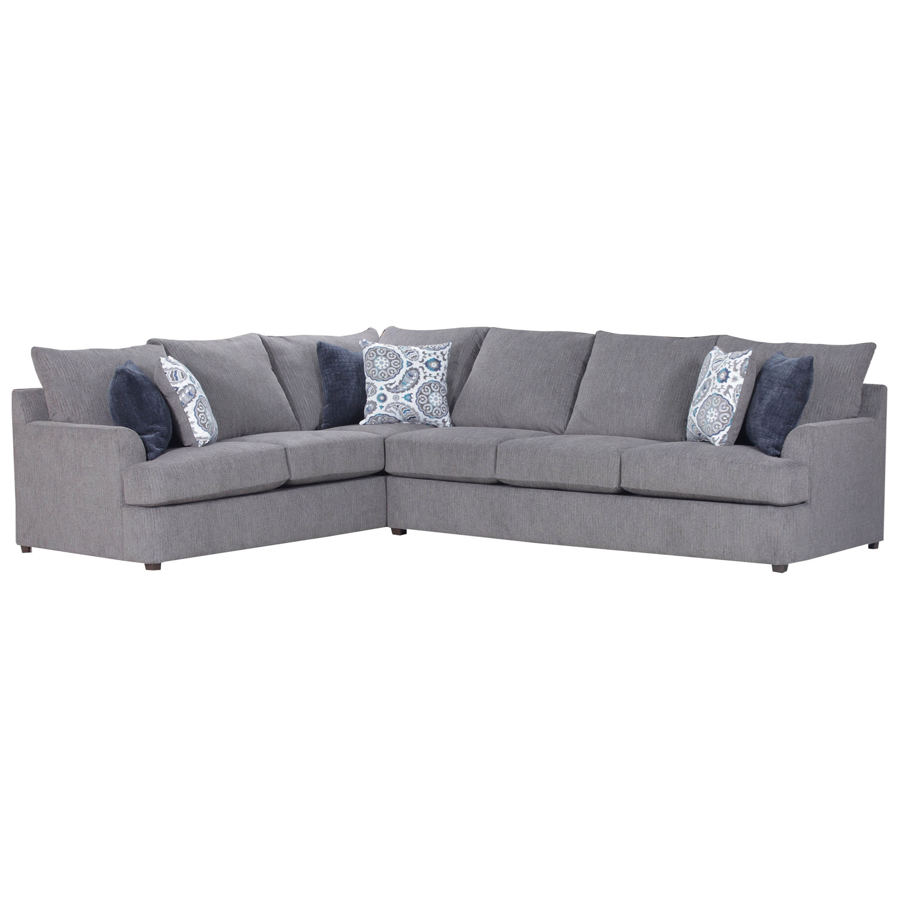 Simmons Upholstery 8540BR Casual Sectional Sofa