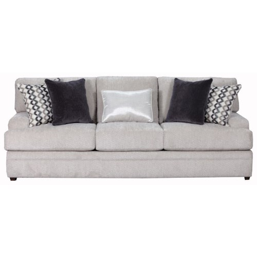 Simmons Upholstery 8560 BR Casual Sofa with Rolled Arms