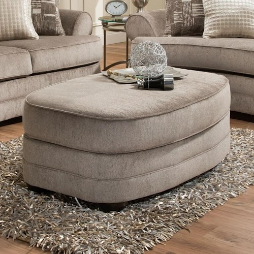 Simmons Upholstery 9255BR Oval Ottoman
