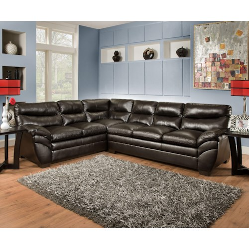 United Furniture Industries 9515 Casual Sectional Sofa