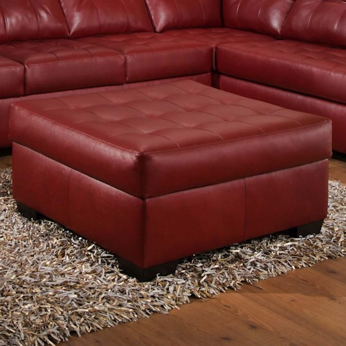 Simmons Upholstery 9569 Oversized Tufted Cocktail Ottoman