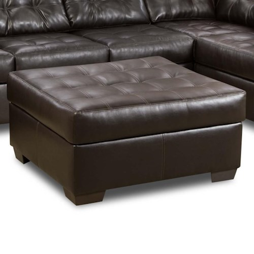 Simmons Upholstery 9590 Tufted Cocktail Ottoman