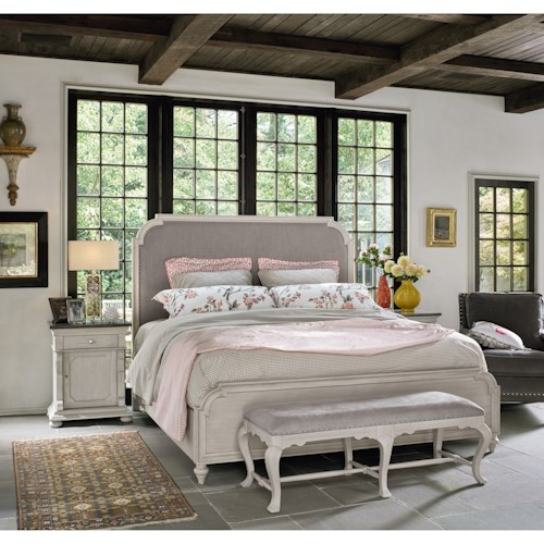 Universal Élan Transitional Queen Bedroom Group