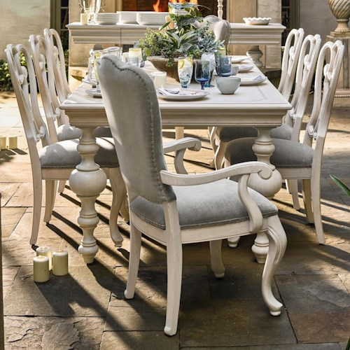 Universal Élan Traditional Dining Table and Chair Set
