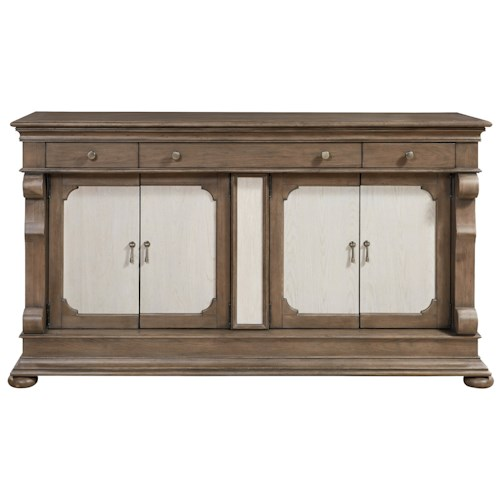 Morris Home Furnishings Élan Traditional Credenza with Adjustable Shelving