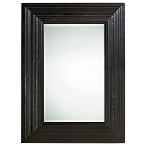 Universal Authenticity Portrait Mirror with Beveled Frame