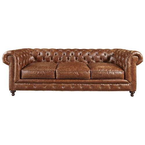 Morris Home Furnishings Berkeley Chesterfield Button-Tufted Sofa