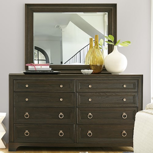 Universal California - Hollywood Hills 8-Drawer Dresser with Landscape Mirror