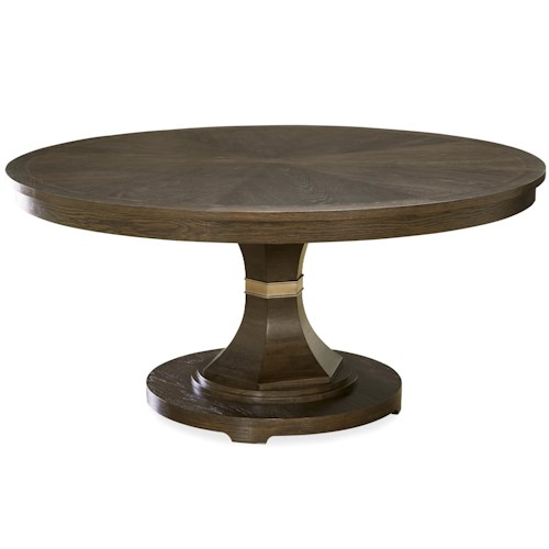 Morris Home Furnishings California - Hollywood Hills Round Dining Table with 16
