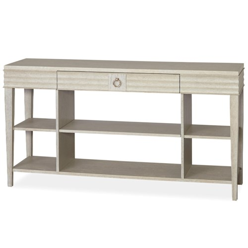 Universal California - Malibu Console Table with 2 Shelves