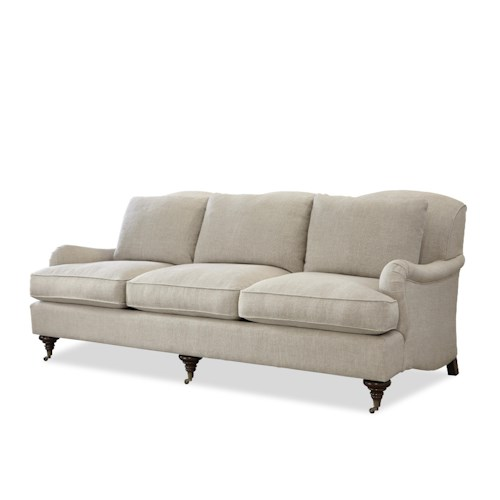 Morris Home Furnishings Churchill Traditional Stationary Sofa with English Arms
