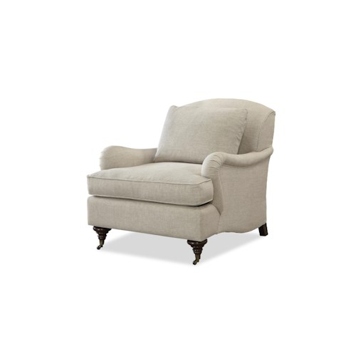 Morris Home Furnishings Churchill Traditional Chair with English Arms