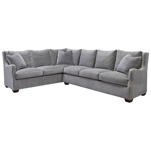 Universal Connor Traditional Sectional Sofa with Nail Head Trim