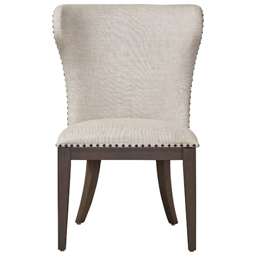 Universal Curated Bladwin Upholstered Side Chair with Nailhead Tack