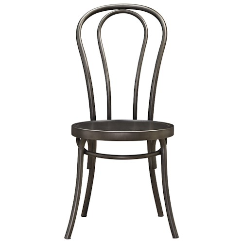 Universal Curated Bistro Metal Chair with Splayed Legs