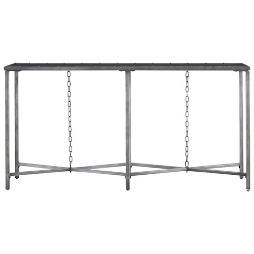 Morris Home Furnishings Curated Eliston Console Table with Chains