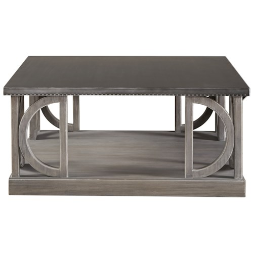 Universal Curated Carlton Square Cocktail Table with Metal Top