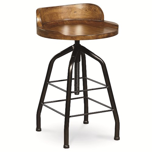 Morris Home Furnishings Great Rooms Potter's Stool with Swivel Height Adjustment