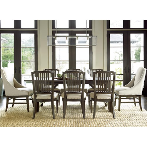 Morris Home Furnishings Great Rooms - Berkeley 3 9 Piece Dining Set with Chelsea Kitchen Table