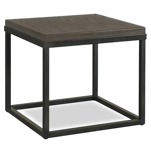 Universal Curated Square Lamp Table with Metal Frame